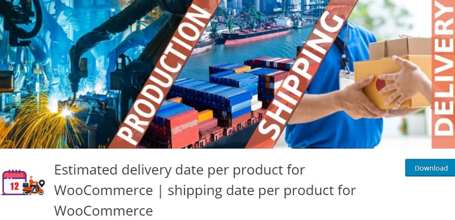 best woocommerce shipping plugins: Estimated delivery date